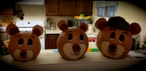 Bear heads all ready to go!