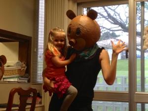 Mama Bear with Goldilocks, pre-SpiderGirl costume