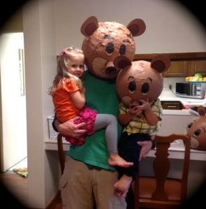 Goldilocks, Papa Bear and Baby Bear
